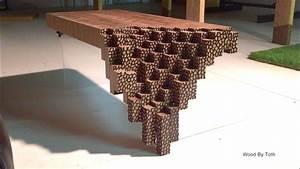 Falling Brick Coffee Table - YouTube