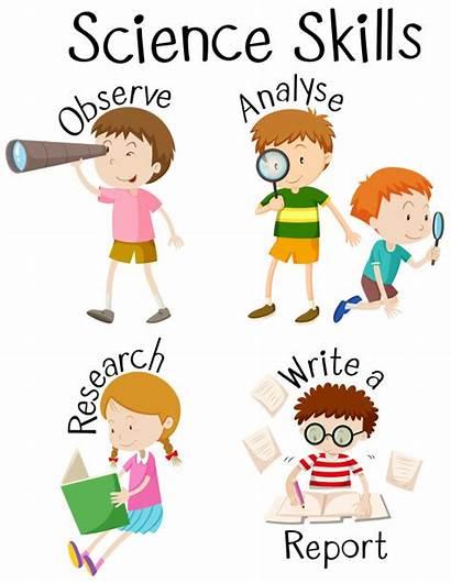 Skills Science Different Children Illustration Vector Superlatives