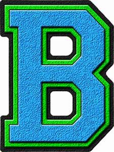 Presentation Alphabets: Light Blue & Kelly Green Varsity ...