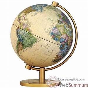 Mini Globe Terrestre : globe g ographique stellanova mod le metallic antique lumineux sph re 28 cm ~ Teatrodelosmanantiales.com Idées de Décoration