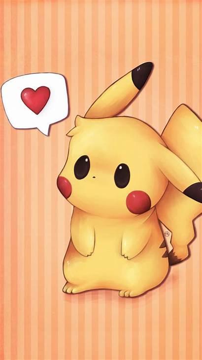 Pikachu Pokemon Iphone Wallpapers Chibi Backgrounds Pokeball