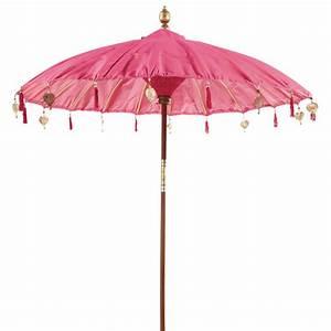 Sonnenschirm ubud rosa maisons du monde for Französischer balkon mit sonnenschirm rosa