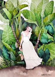 Tropical Watercolor Art Paintings