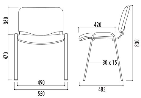technique de la chaise chaise en tissu iso chaise de collectivité empilable