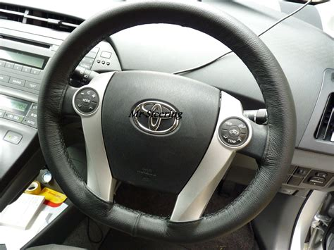 Toyota Steering Wheel by Toyota Prius 3 Leather Steering Wheel Cover 2009 2015 Mr