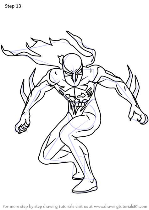 learn   draw spider man  marvel comics step