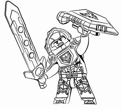 Nexo Knights Coloring Lego Playmobil Colorear Dibujos