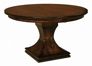 Amish westin single pedestal dining table for Pedestal dining table