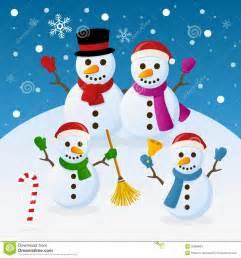 Christmas Snowman Family Clip Art