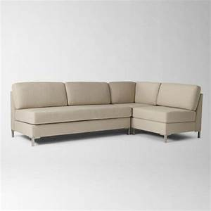 Armless sectional contemporary sectional sofas by for Armless sectional sofa slipcovers