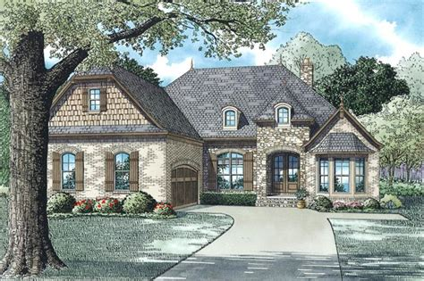 house plan bdrm sq ft european country style home theplancollection