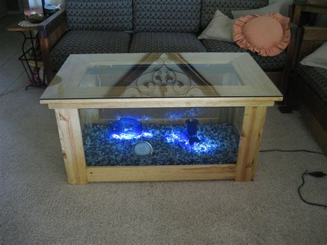 woodwork fish tank coffee table plans  plans