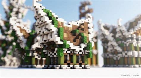 elven style houses building bundle minecraft building