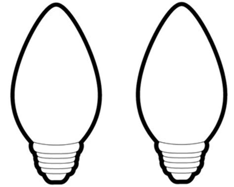 christmas light bulb template christmas light bulb outline my picture gallery