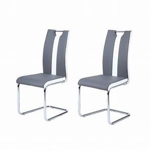chaise de cuisine blanche et grise chaise idees de With deco cuisine avec chaise grise et blanche