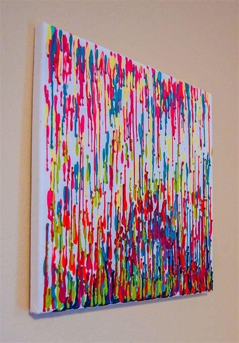 bilderwand selber machen crayon dekoideen raum und wand leinwand bemalen