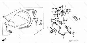 Honda Motorcycle 2004 Oem Parts Diagram For Seat