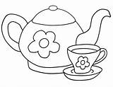 Tea Coloring Pages Tea2 sketch template