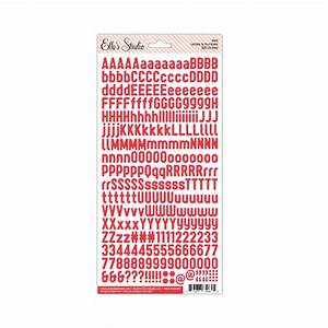 letter number stickers red With letter and number decals