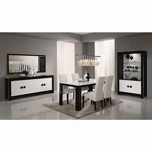 Salon Complet Ikea : salle manger compl te noir et blanc laqu design bianka 2 table buffet l 160 cm achat ~ Dallasstarsshop.com Idées de Décoration