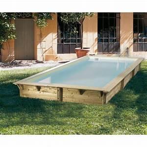 Piscine Bois Ubbink : piscine bois rectangulaire 350x505cm azura toute quip e ~ Mglfilm.com Idées de Décoration