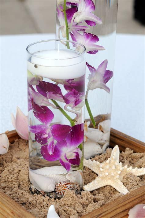 Flowers Decor White Purple Centerpieces Flowers