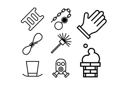 Removing Soot From Fireplace Brick by Chimney And Heating Coal Icons Set Download Free Vector