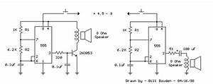 555 Tone Generator  8 Ohm Speaker  Circuit Diagram And