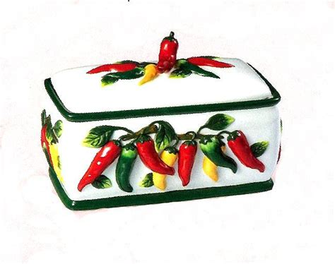 chili pepper kitchen items chili pepper bread box