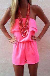 Strapless Romper on Pinterest