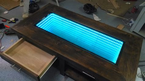 diy led light table ana white infinity mirror coffee table diy projects