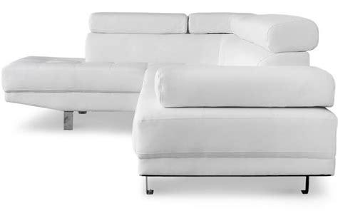 sofactory canapé canapé d 39 angle droit blanc avec têtière relevable tilpa