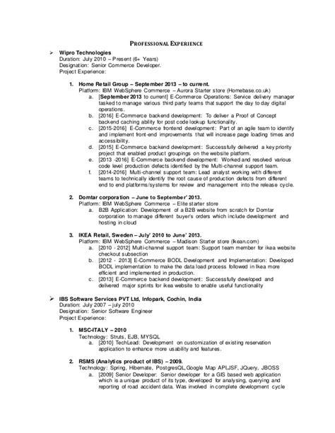 Resume Ca Java Server Framework by Raghunathmc Resume