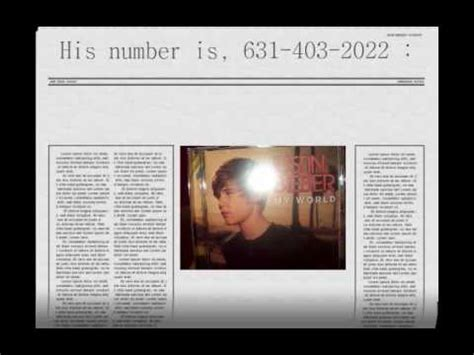 s phone numbers justin bieber s phone number real