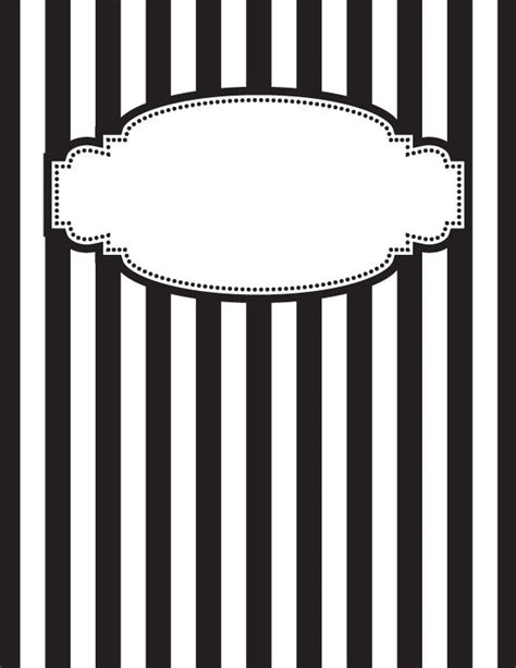 binder clipart black and white free printable black and white striped binder cover