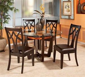 round glass dining room table and 4 chairs starrkingschool With table and chairs dining room