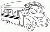 Bus Coloring Cartoon Pages Popular sketch template