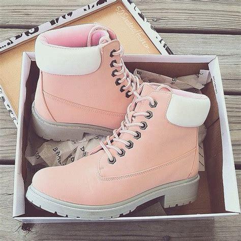 light pink timberlands shoes pink timerland pastel timberlands wheretoget
