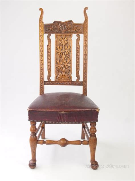 antique carved oak high back chair chair antiques atlas