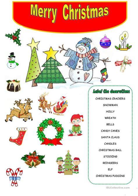 merry christmas worksheet free esl printable worksheets
