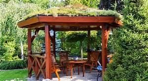 Holz Im Garten Pergola Pavillon Co
