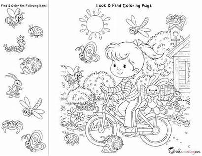Coloring Preschool Pages Hidden Activities Printable Worksheets