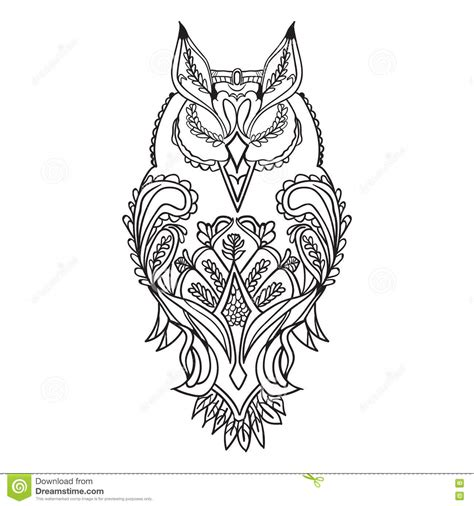 outline   owl  black  patterns  drawing