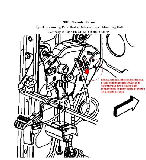 2003 Suburban Wiring Diagram Pedal by My Parking Brake Is Stuck I Think I The Cable Is