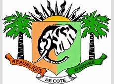 The state symbolics of the Republic of Ivory Coast Flags