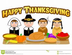 Thanksgiving Pilgrims And Indians/eps Stock Vector - Image
