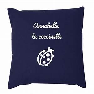Coussin Bleu Marine : coussin enfant personnalis avec son pr nom amikado ~ Teatrodelosmanantiales.com Idées de Décoration