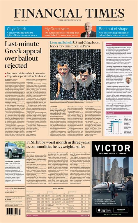 Pin on Front pages: Wednesday 1st July 2015