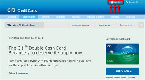 Citi Double Cash Credit Card Login  Make A Payment