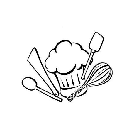 ustensiles cuisine assiette et ustensiles à colorier